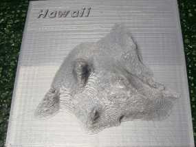 夏威夷地势图 3D模型