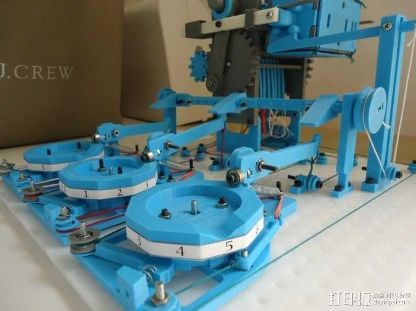 Turbo Entabulator -- 3D打印手摇计算机 3D模型  图1