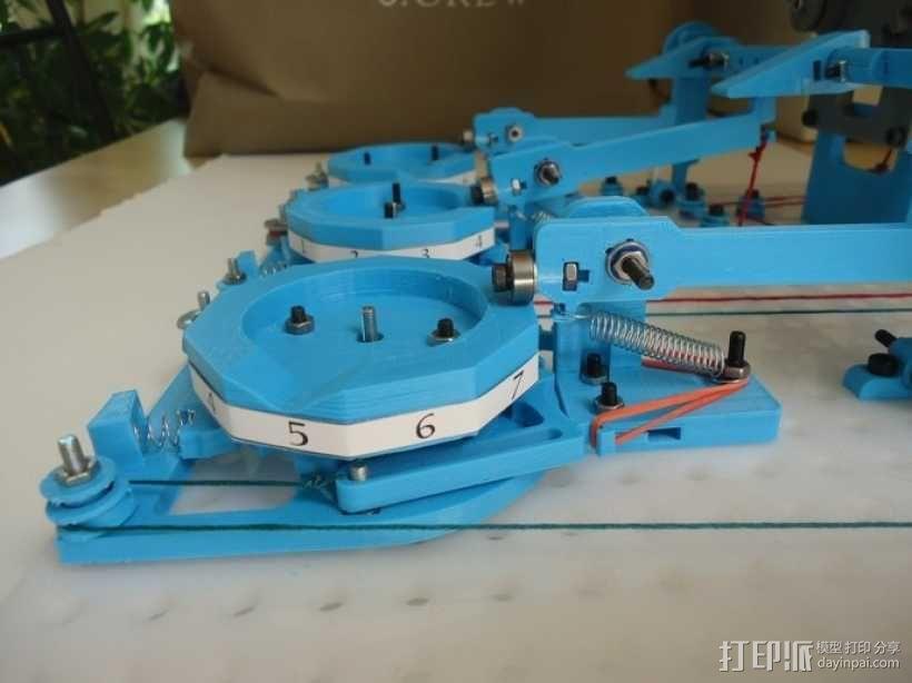 Turbo Entabulator -- 3D打印手摇计算机 3D模型  图21