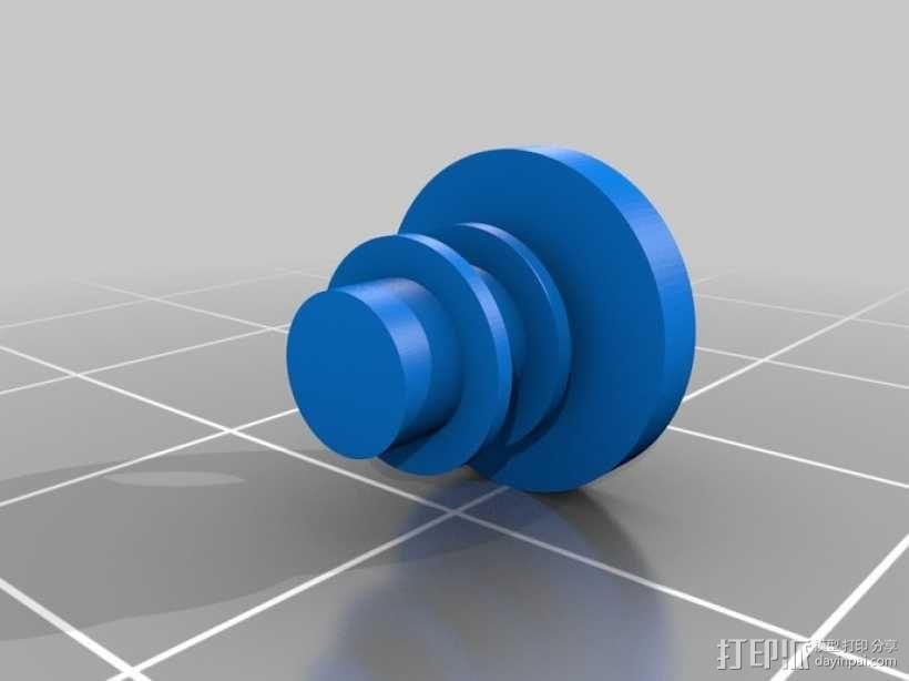 可摆动发动机 3D模型  图3
