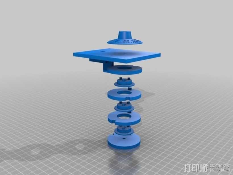 字码锁 3D模型  图1