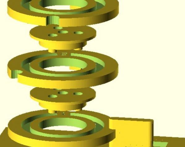 字码锁 3D模型  图2