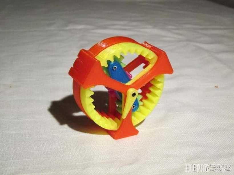 行星齿轮驱动 3D模型  图1