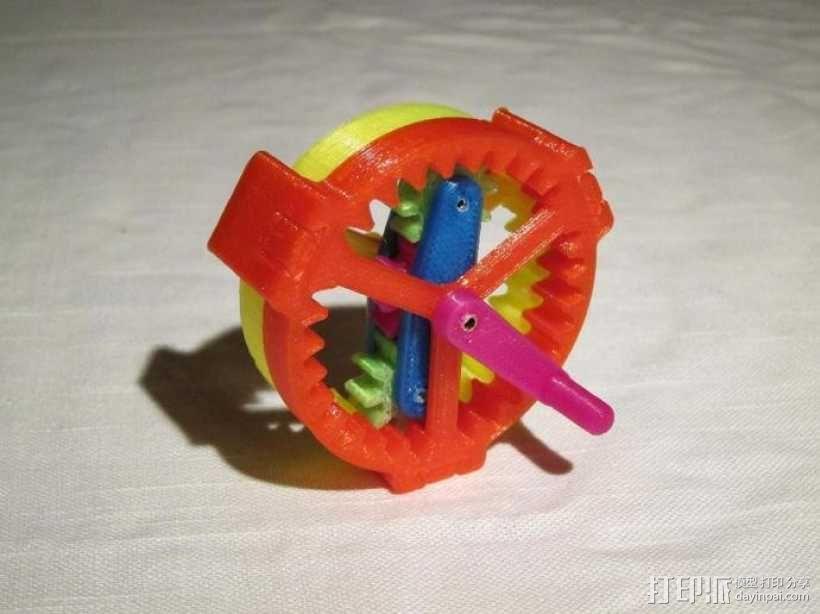 行星齿轮驱动 3D模型  图2
