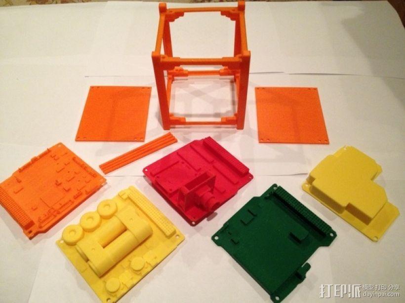 立方体人造卫星 3D模型  图1
