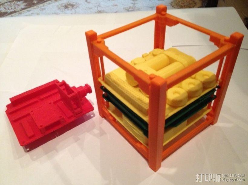 立方体人造卫星 3D模型  图2