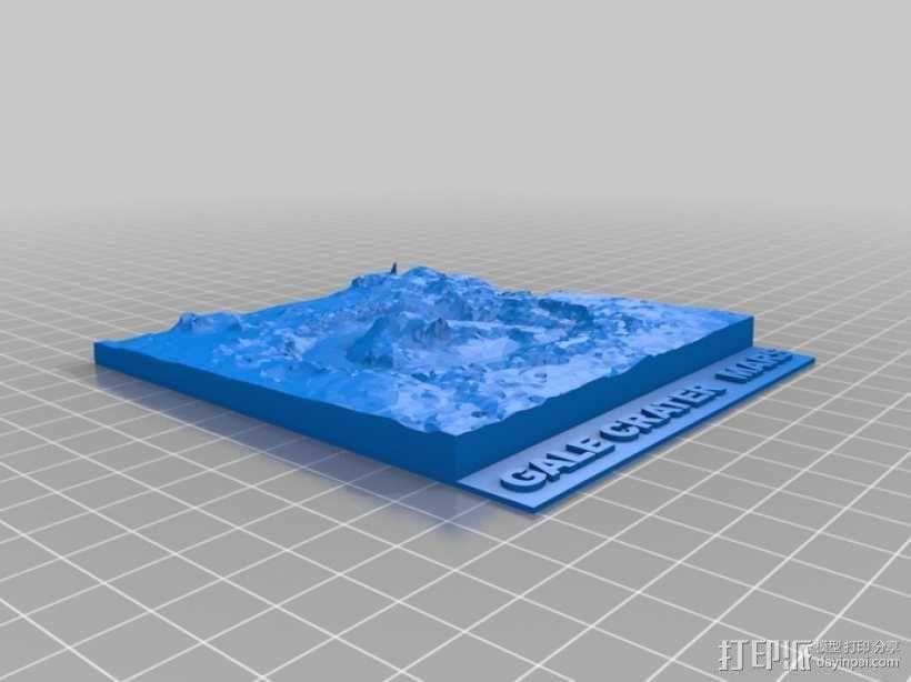 Gale陨石坑 3D模型  图1