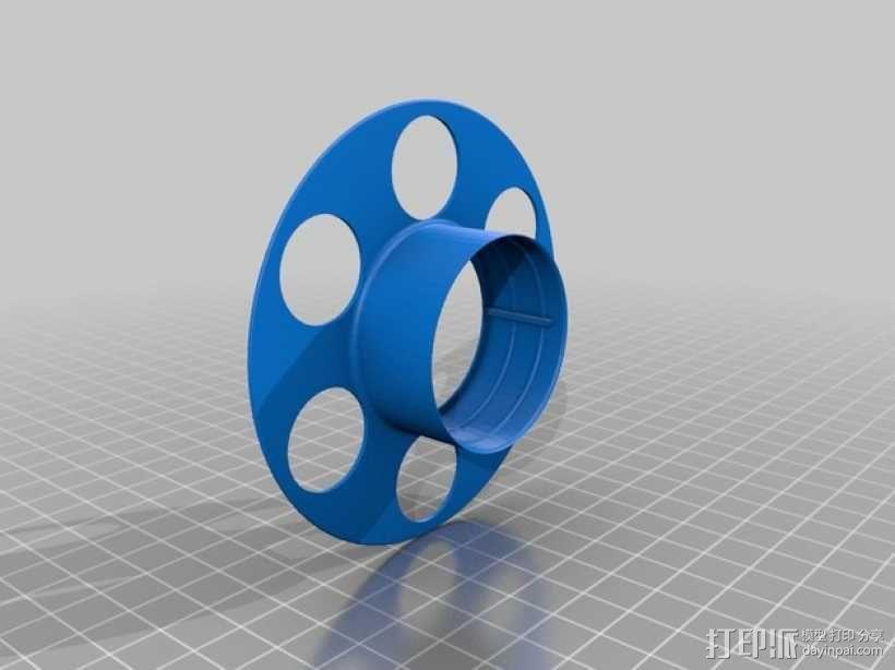 迷你电缆线轴模型 3D模型  图2