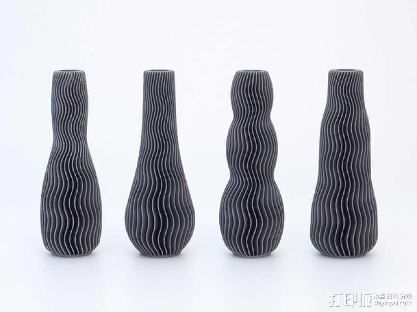 波纹形花瓶模型 3D模型  图3