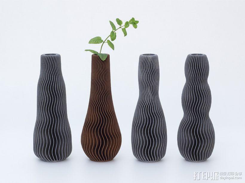 波纹形花瓶模型 3D模型  图2