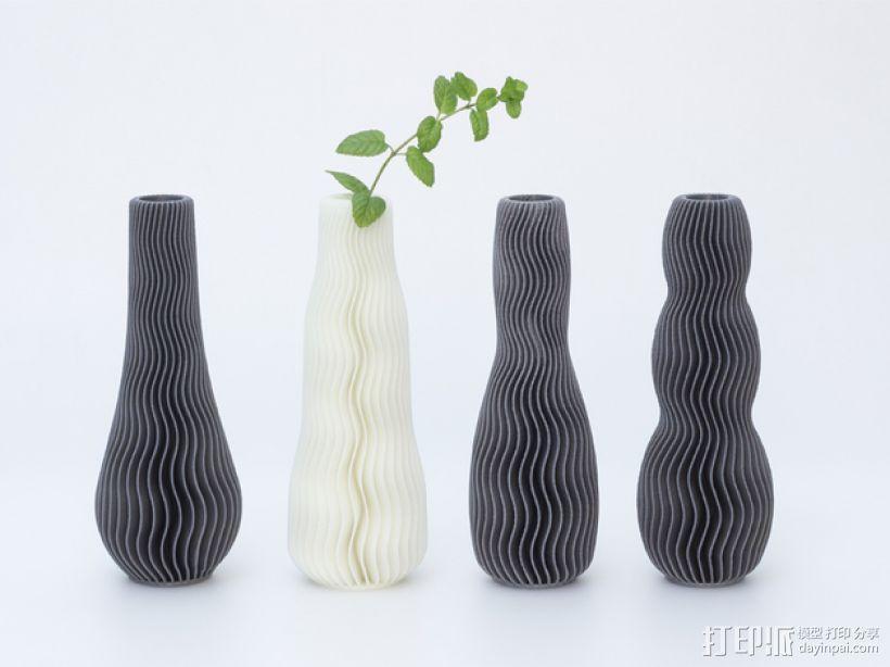 波纹形花瓶模型 3D模型  图4