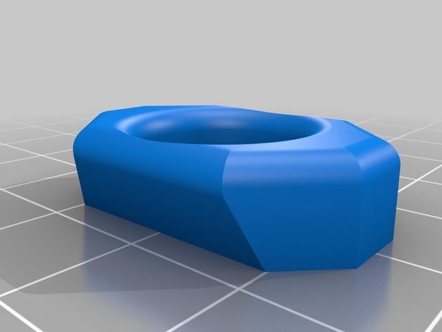 刻面模块化墙壁花盆 3D模型  图3