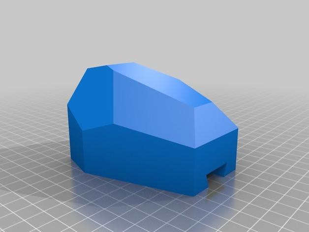 刻面模块化墙壁花盆 3D模型  图2