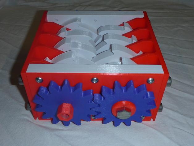 肥料捣碎机模型 3D模型  图1