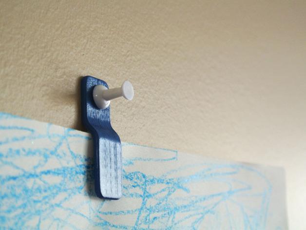 壁挂式回形针模型 3D模型  图2