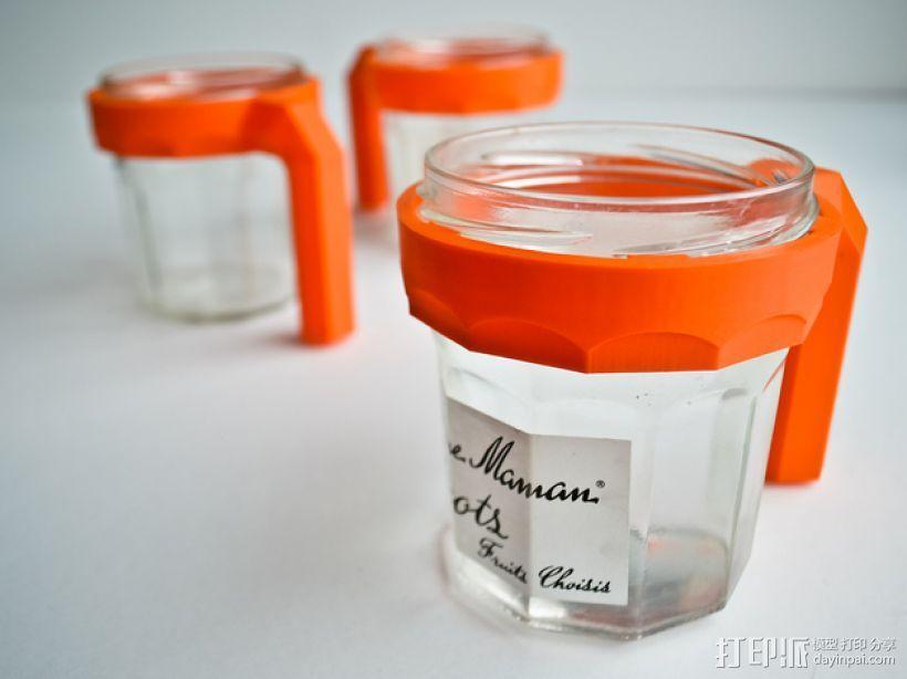 玻璃水杯手柄模型 3D模型  图1