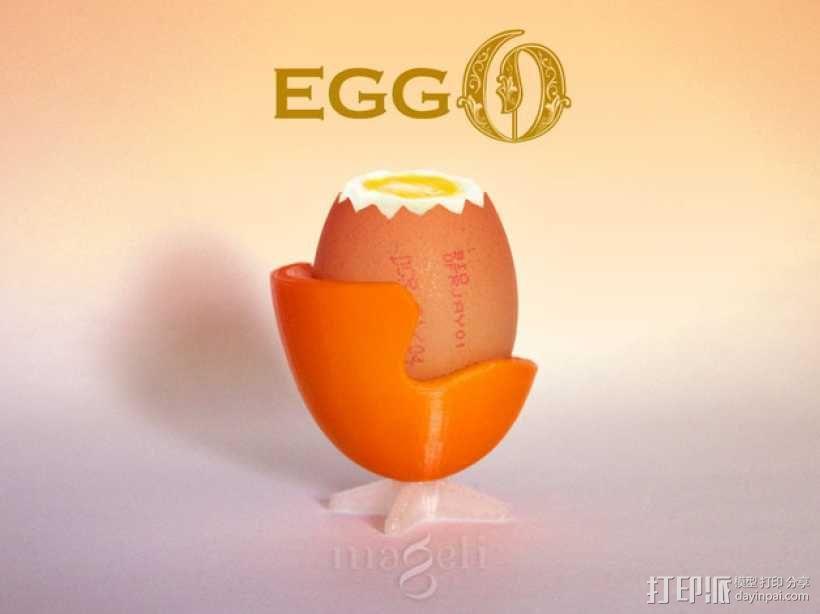 迷你蛋杯模型 3D模型  图1
