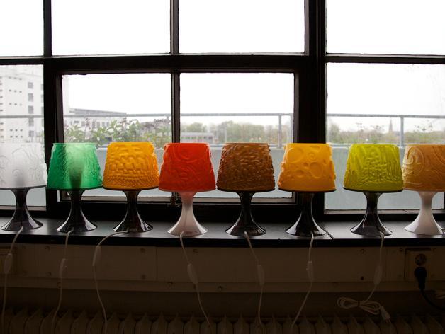 宜家拉姆本台灯灯罩模型 3D模型  图2
