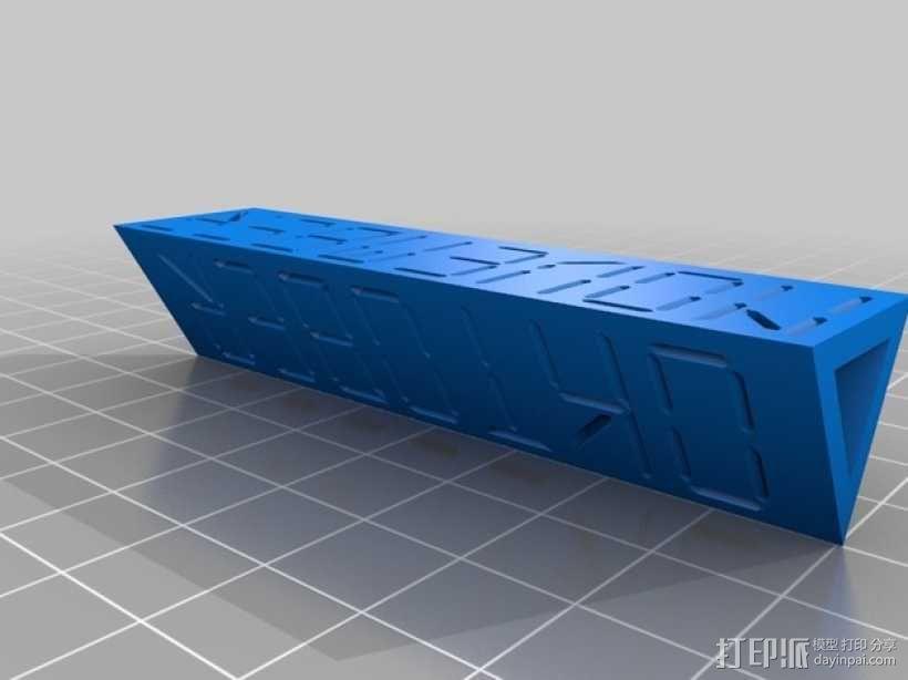 迷你方块日历模型 3D模型  图5