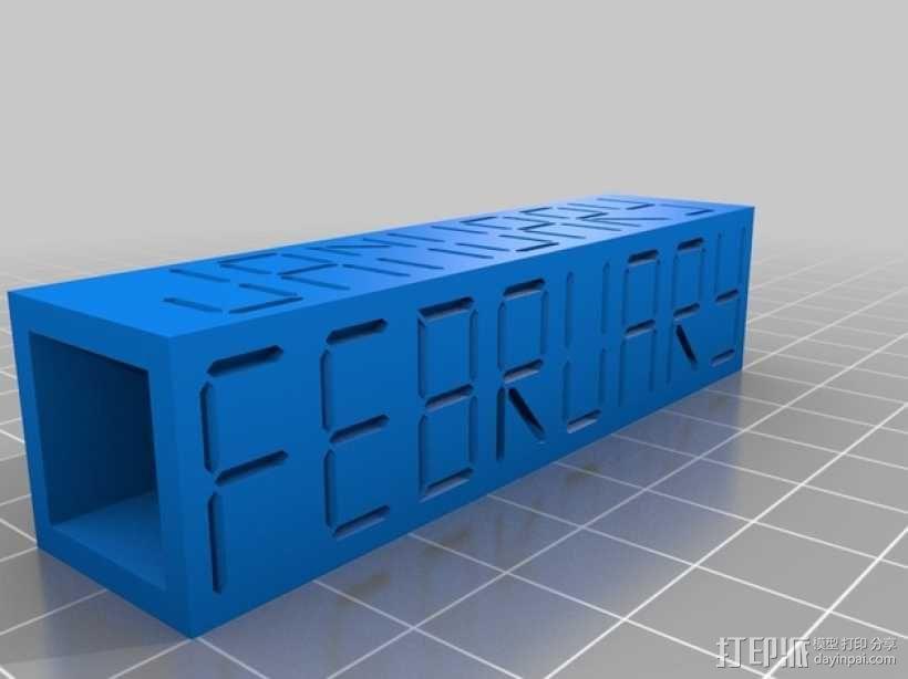 迷你方块日历模型 3D模型  图8
