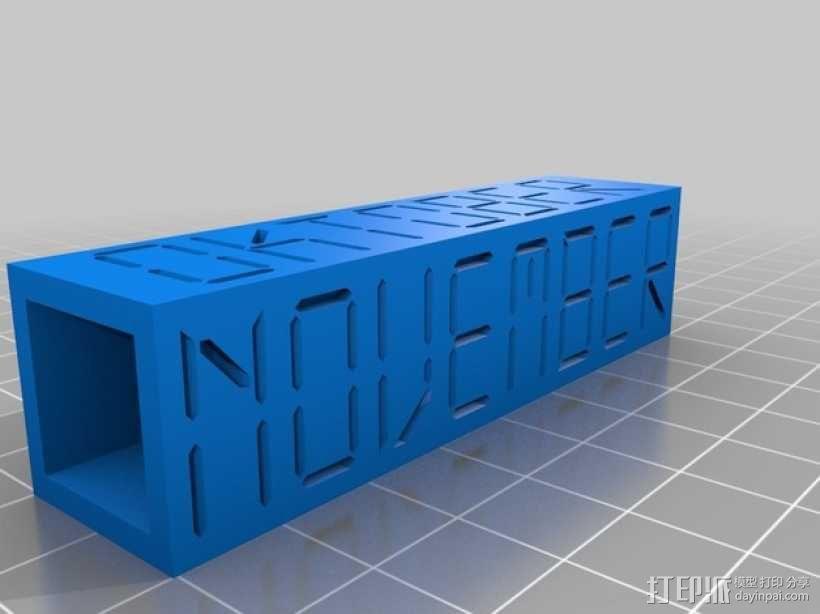 迷你方块日历模型 3D模型  图10