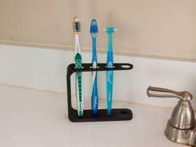 四孔牙刷架模型 3D模型