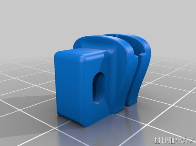 迷你拉链头模型 3D模型  图2