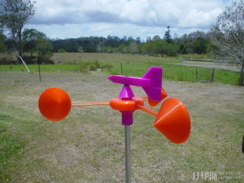 迷你风速计模型 3D模型  图1