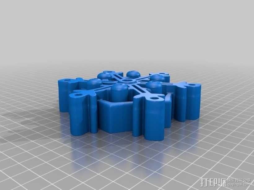 雪花形SD卡盒模型 3D模型  图2