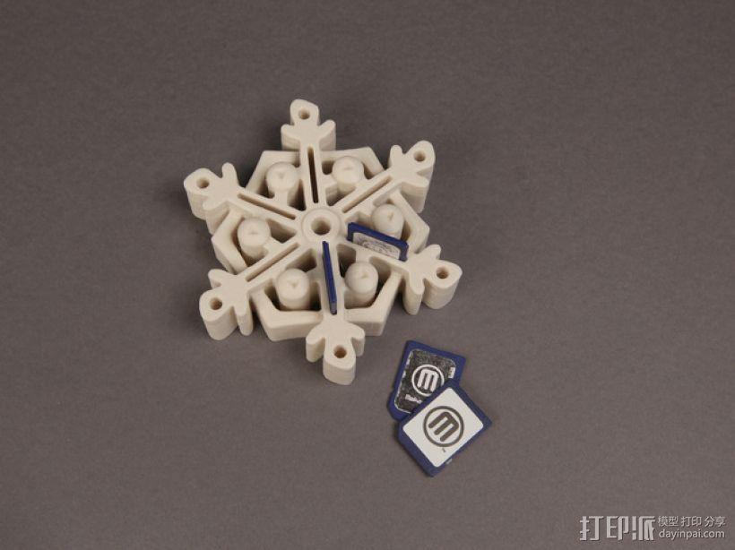 雪花形SD卡盒模型 3D模型  图1