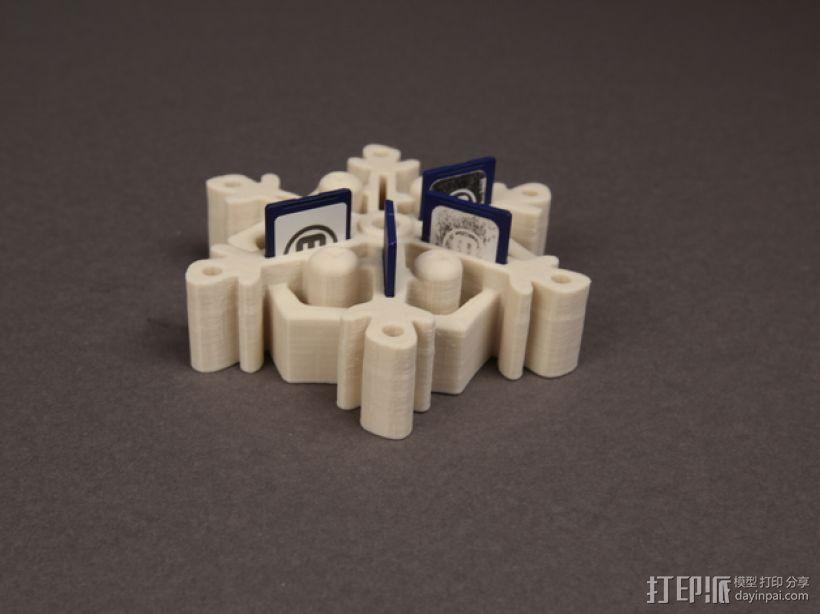 雪花形SD卡盒模型 3D模型  图3