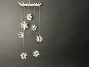 雪花形装饰物模型 3D模型
