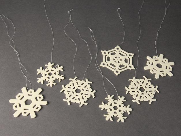 雪花形装饰物模型 3D模型  图2