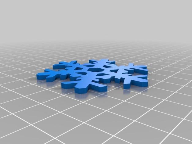 雪花形装饰物模型 3D模型  图5