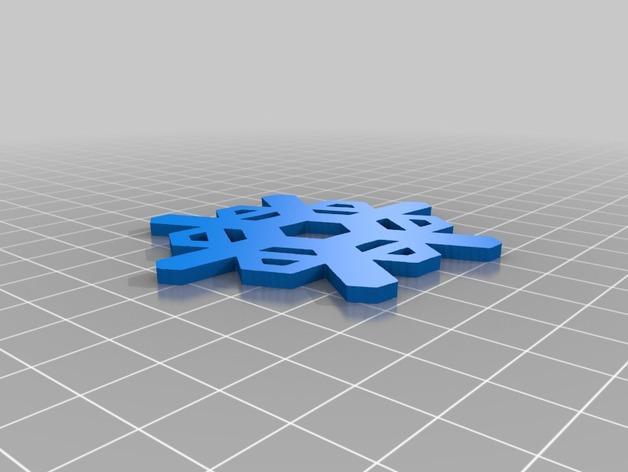 雪花形装饰物模型 3D模型  图4