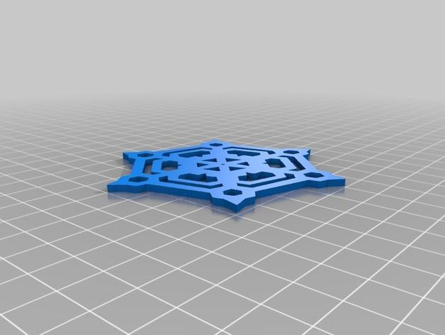雪花形装饰物模型 3D模型  图6