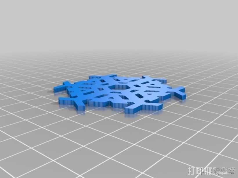 雪花形装饰物模型 3D模型  图7