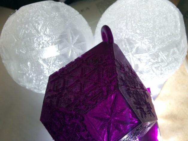 雪花形吊坠模型 3D模型  图3