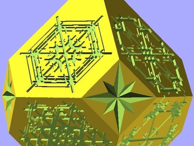 雪花形吊坠模型 3D模型  图6