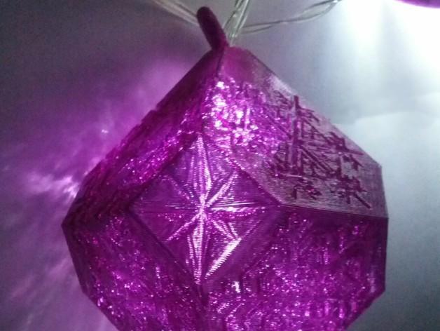 雪花形吊坠模型 3D模型  图5