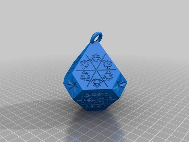 雪花形吊坠模型 3D模型  图8