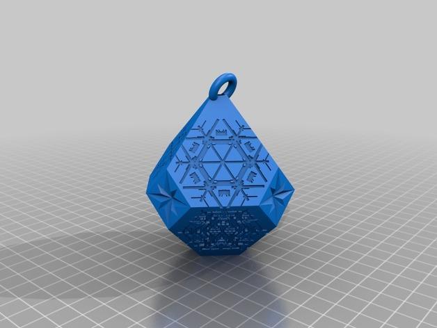 雪花形吊坠模型 3D模型  图12
