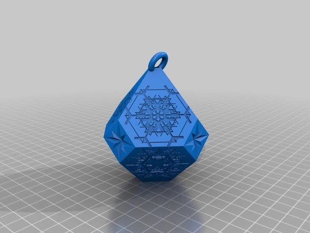 雪花形吊坠模型 3D模型  图13