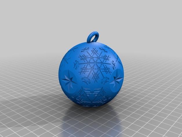 雪花形吊坠模型 3D模型  图15