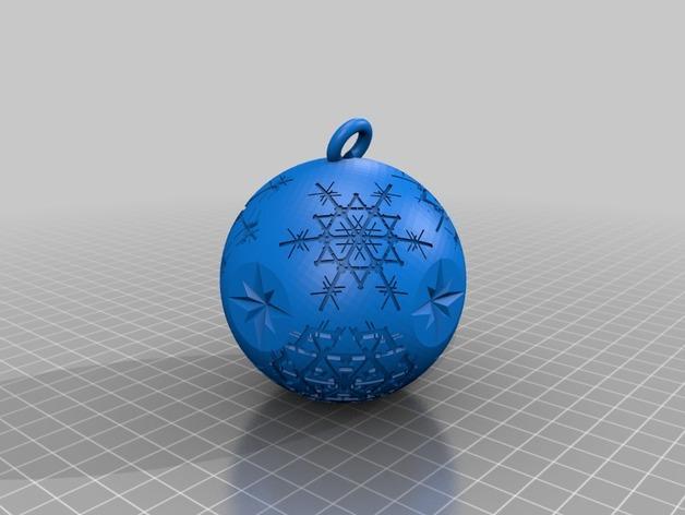 雪花形吊坠模型 3D模型  图14