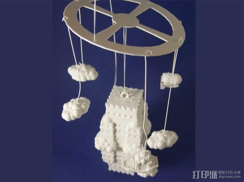 空中城堡装饰物模型 3D模型  图2