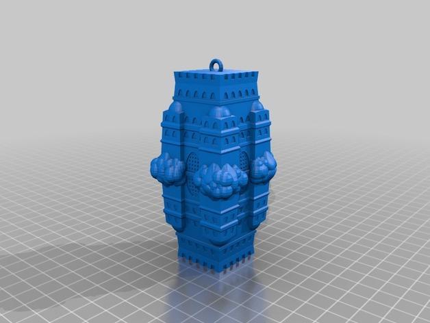 空中城堡装饰物模型 3D模型  图4