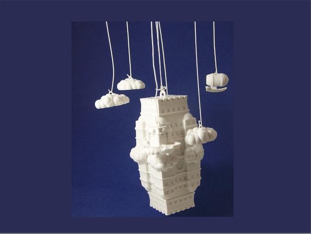 空中城堡装饰物模型 3D模型  图3