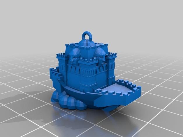 空中城堡装饰物模型 3D模型  图5
