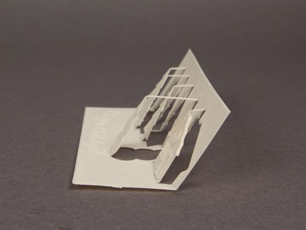 3D打印贺卡模型 3D模型  图2